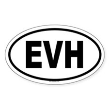 EVH Oval Decal