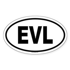 EVL Oval Decal