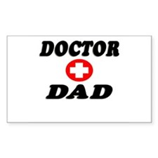 """""""Doctor Dad"""" Rectangle Decal"""