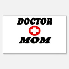 """""""Doctor Mom"""" Rectangle Decal"""