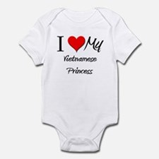 I Love My Vietnamese Princess Infant Bodysuit
