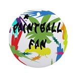 Paintball Fan Ornament (Round)