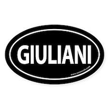 Giuliani 2008 Traditional Sticker -Black (Oval)
