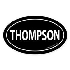 Thompson 2008 Traditional Sticker -Black (Oval)