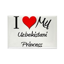 I Love My Uzbekistani Princess Rectangle Magnet