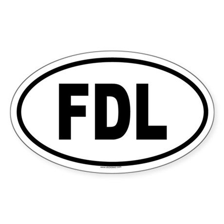 FDL Oval Sticker