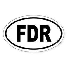 FDR Oval Decal