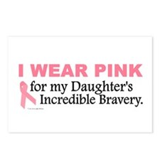Pink For My Daughter's Bravery 1 Postcards (Packag
