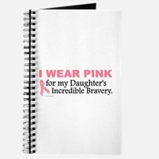 Pink For My Daughter's Bravery 1 Journal