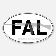 FAL Oval Bumper Stickers