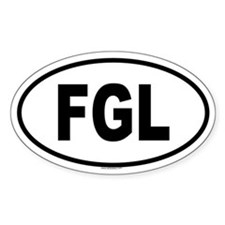 FGL Oval Decal