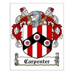Carpenter Family Crest Small Poster