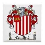 Caulfield Family Crest Tile Coaster