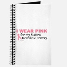 Pink For My Sister's Bravery 1 Journal