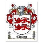 Clancy Family Crests Small Poster