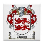 Clancy Family Crests Tile Coaster