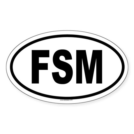 FSM Oval Sticker
