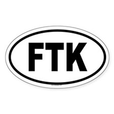 FTK Oval Decal