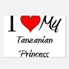 I Love My Tanzanian Princess Postcards (Package of