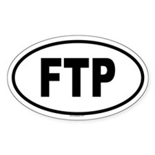 FTP Oval Decal