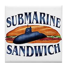 Submarine Sandwich Tile Coaster