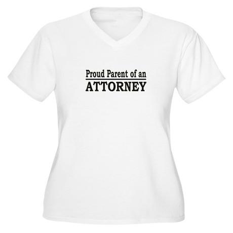 """""""Proud Parent of an Attorney"""" Women's Plus Size V-"""