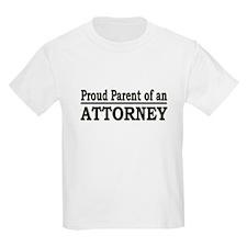 """""""Proud Parent of an Attorney"""" T-Shirt"""