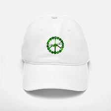 Irish Peace Love and Shamrocks Baseball Baseball Cap