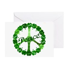 Irish Peace Love and Shamrocks Greeting Card