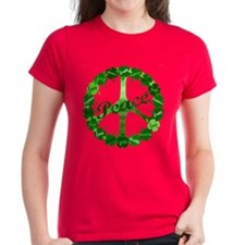 Irish Peace Love and Shamrocks Tee