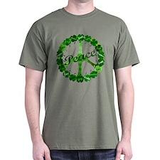 Irish Peace Love and Shamrocks T-Shirt