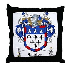 Clinton Family Crest Throw Pillow