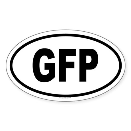 GFP Oval Sticker