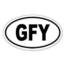 GFY Oval Decal