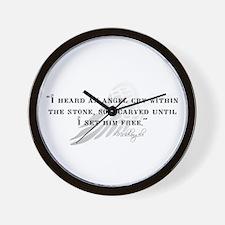 Michaelangelo Angel Quote Wall Clock