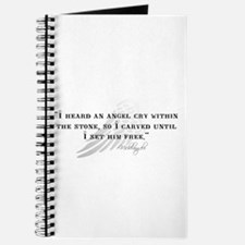 Michaelangelo Angel Quote Journal