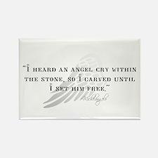 Michaelangelo Angel Quote Rectangle Magnet