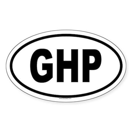 GHP Oval Sticker