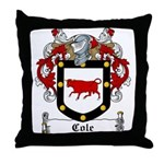 Cole Family Crest Throw Pillow