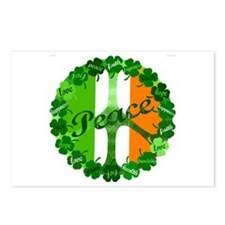Irish Clover Peace Sign Postcards (Package of 8)