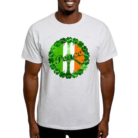 Irish Clover Peace Sign Light T-Shirt