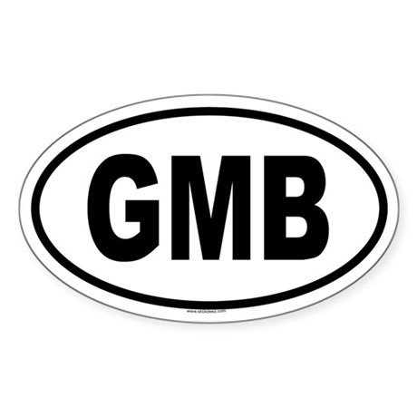 GMB Oval Sticker