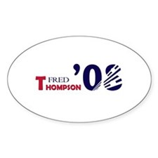 Fred Thompson 08 Oval Decal
