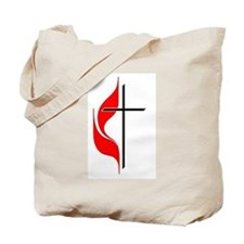 Cross and Flame Tote Bag