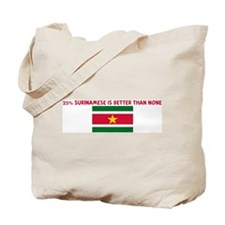 25 PERCENT SURINAMESE IS BETT Tote Bag