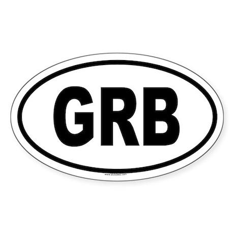 GRB Oval Sticker