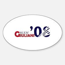 Rudy Giuliani 08 Oval Decal