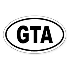 GTA Oval Bumper Stickers