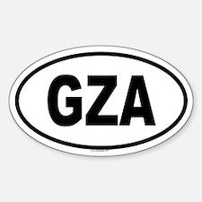 GZA Oval Decal