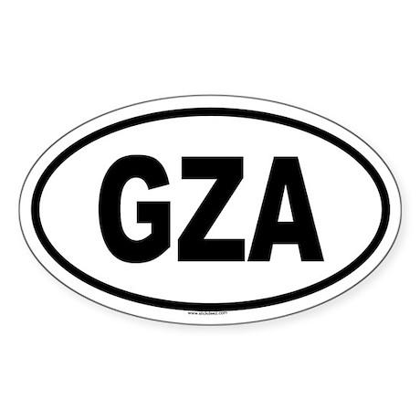 GZA Oval Sticker